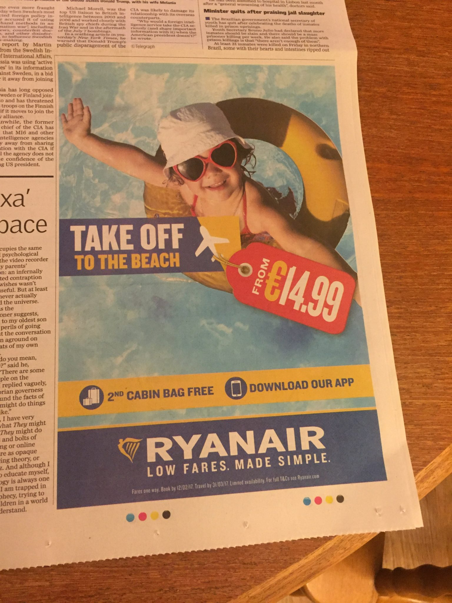Ryanair – take off to the beach from €14.99