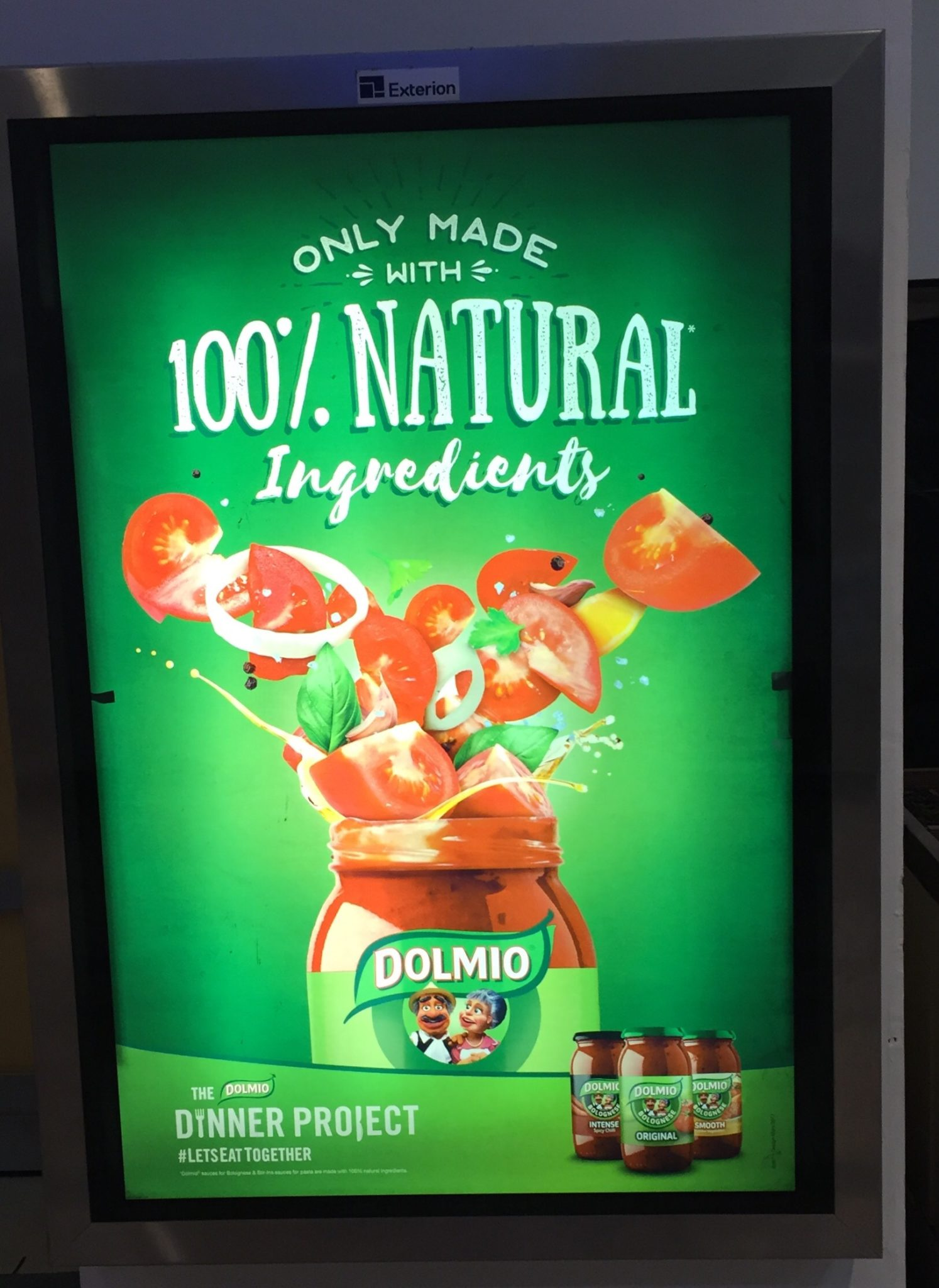 Dolmio – only made with 100% natural ingredients