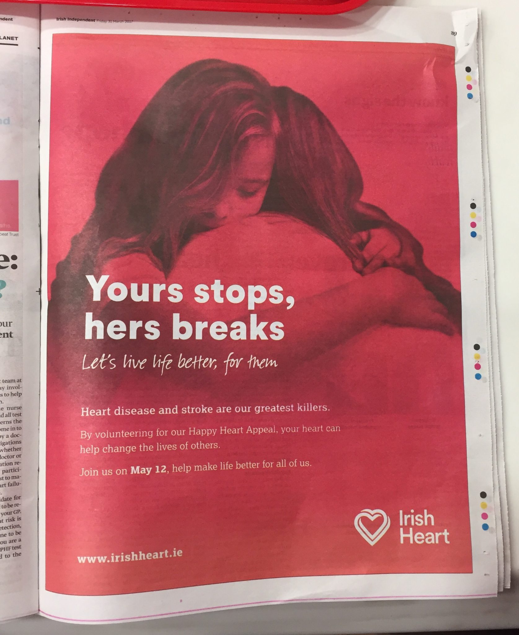 Irish Heart – yours stops, hers breaks