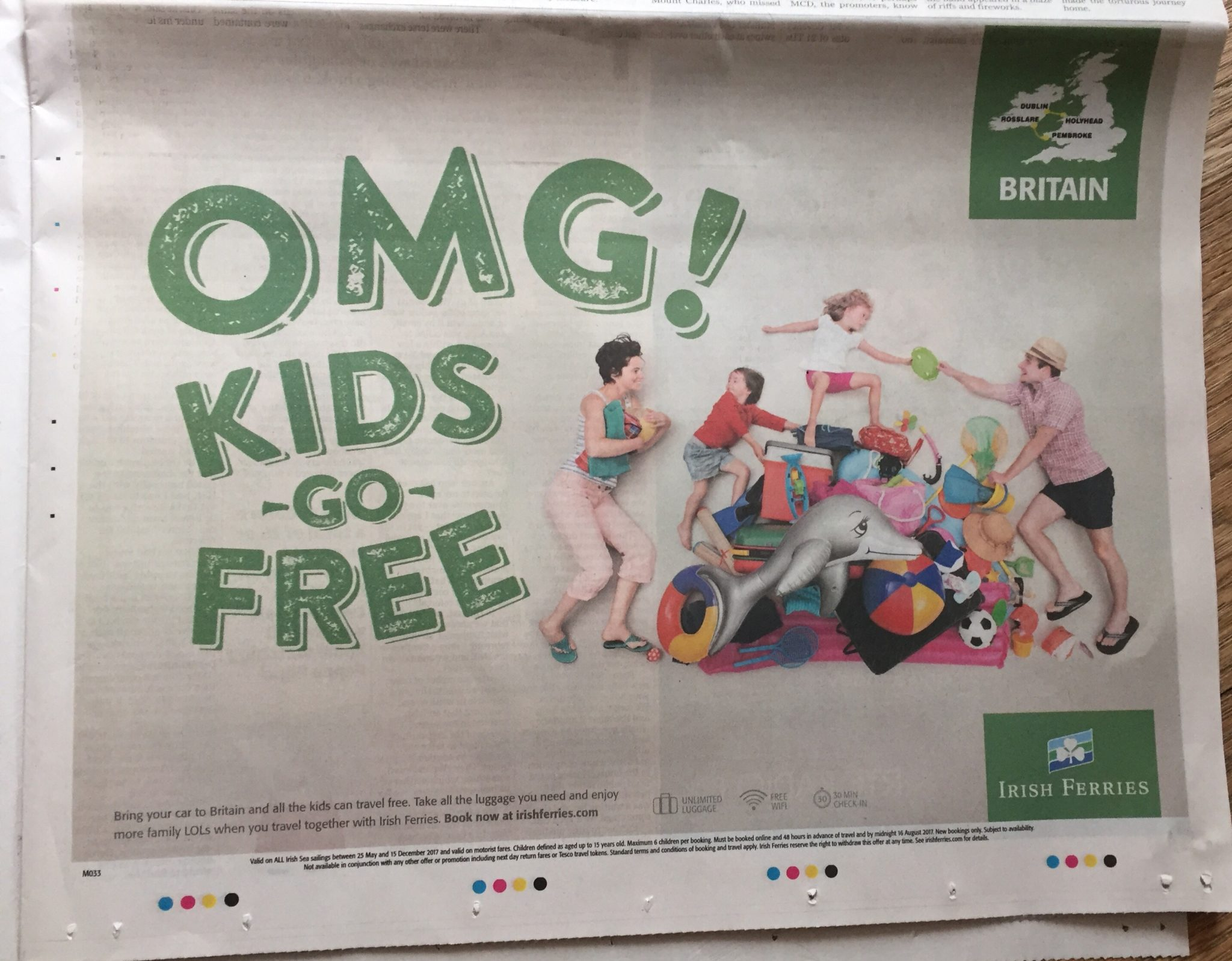 Irish ferries – OMG kids go free
