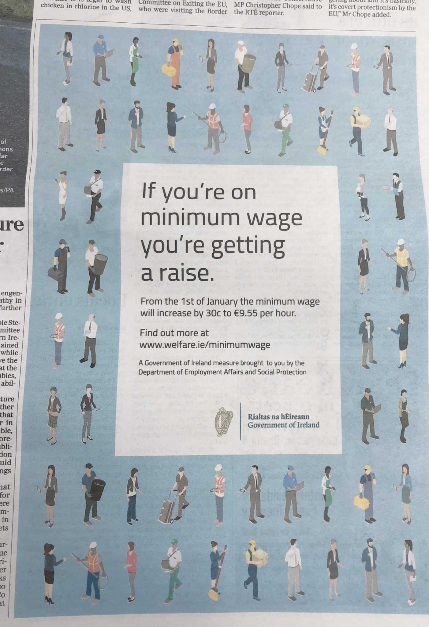 Government of Ireland – Department of Employment Affairs and Social Protection – If you're on minimum wage you're getting a raise.